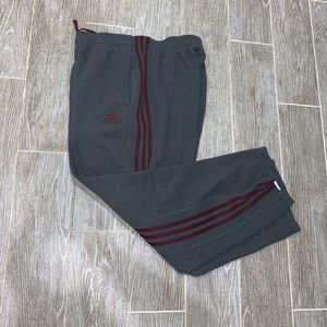 Adidas sweat pants with pockets men's large